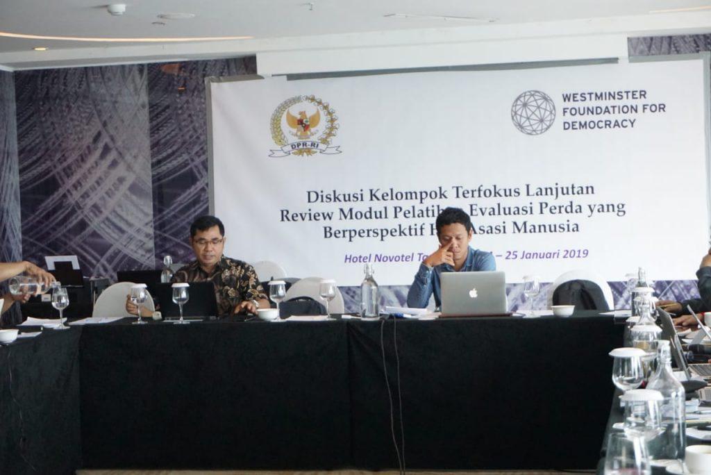 Director presented Module on Post Legislative Scrutiny for Local Parliament